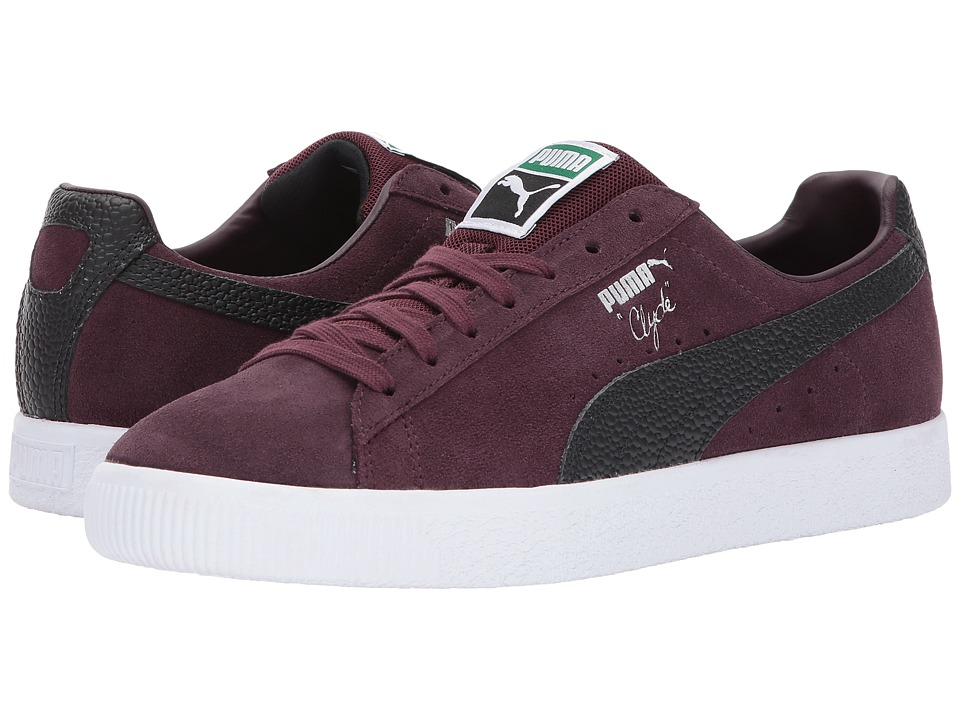 PUMA - Clyde BC (Winetasting/Puma Black) Men's Shoes