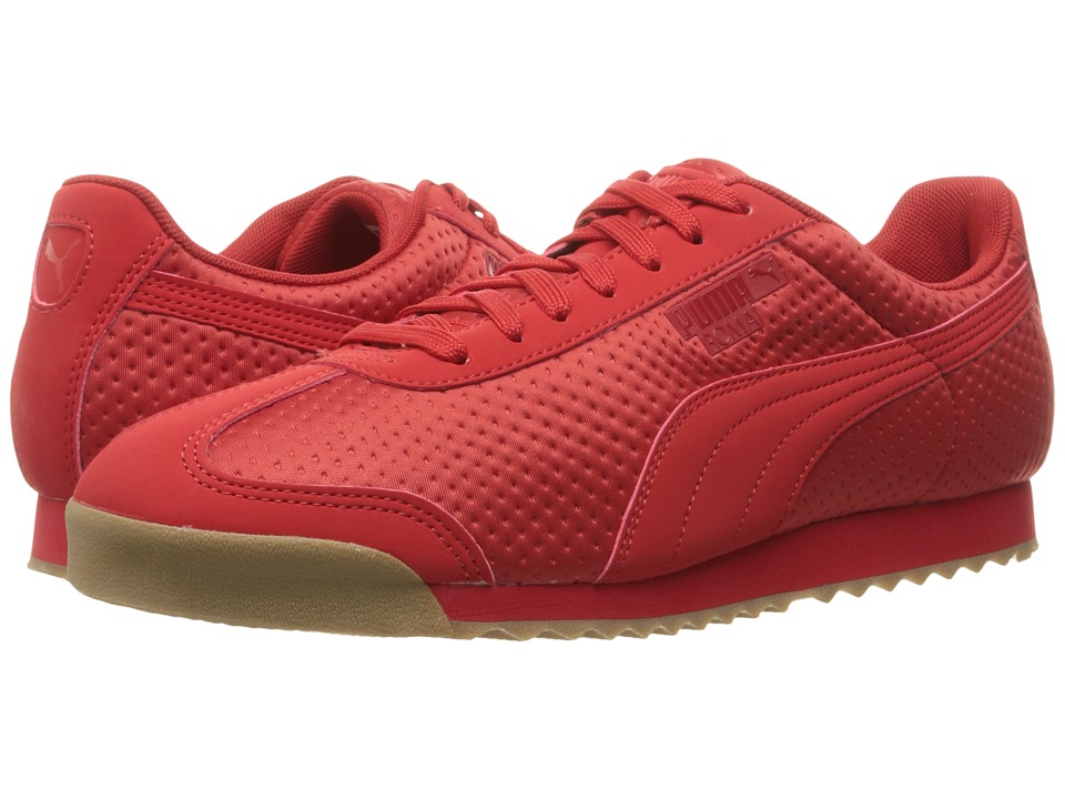 PUMA - Roma Triemboss (High Risk Red) Men's Shoes