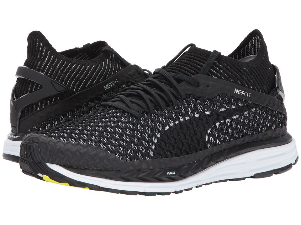 PUMA - Speed Ignite Netfit (Puma Black/Quiet Shade/Puma White) Men's Shoes