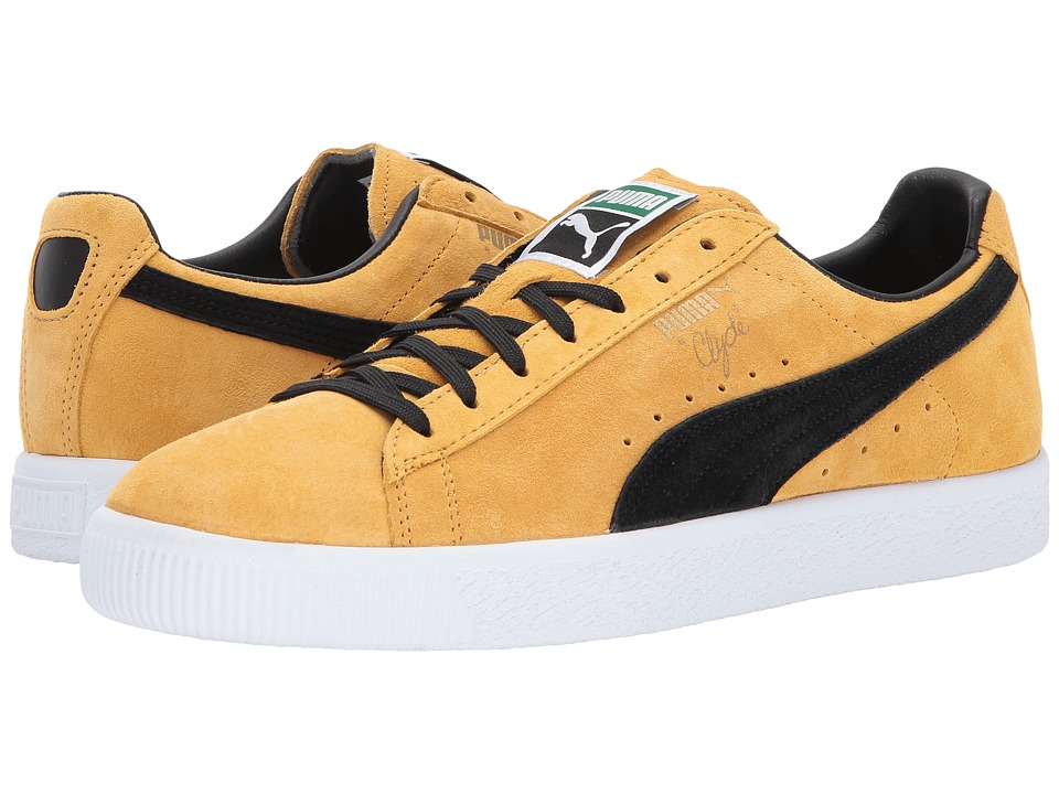PUMA Clyde (Bright Gold/Puma Black) Men