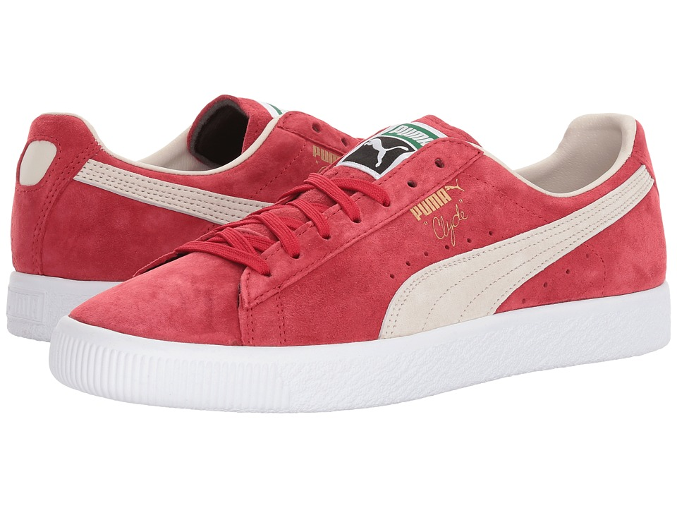 PUMA Clyde (Barbados Cherry/Whisper White) Men