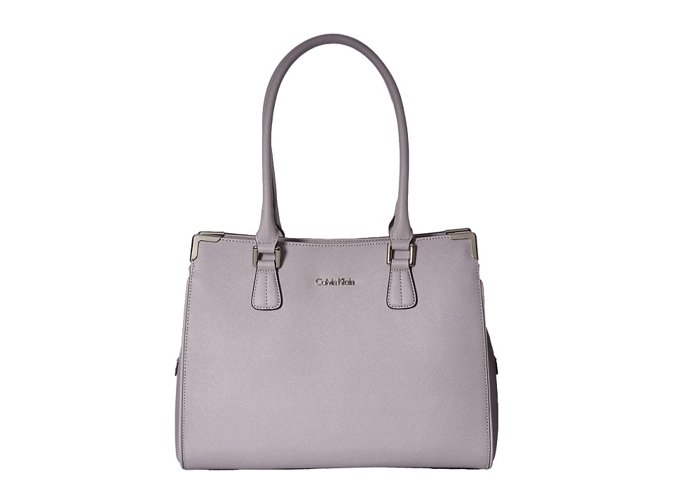 Calvin Klein - On My Corner Saffiano Satchel (Dusty Lilac) Satchel Handbags