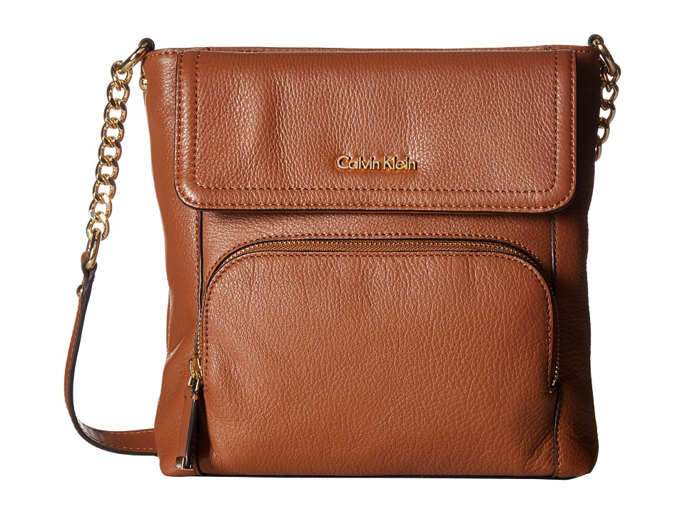 Calvin Klein - Classic Pebble Crossbody (Luggage) Cross Body Handbags