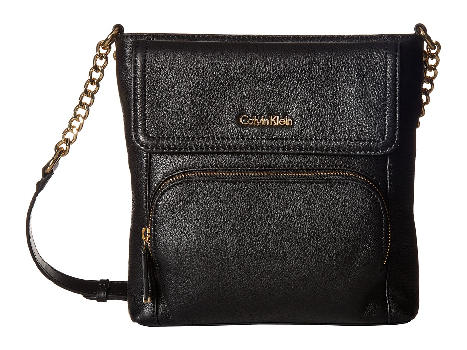 Calvin Klein - Classic Pebble Crossbody (Black) Cross Body Handbags