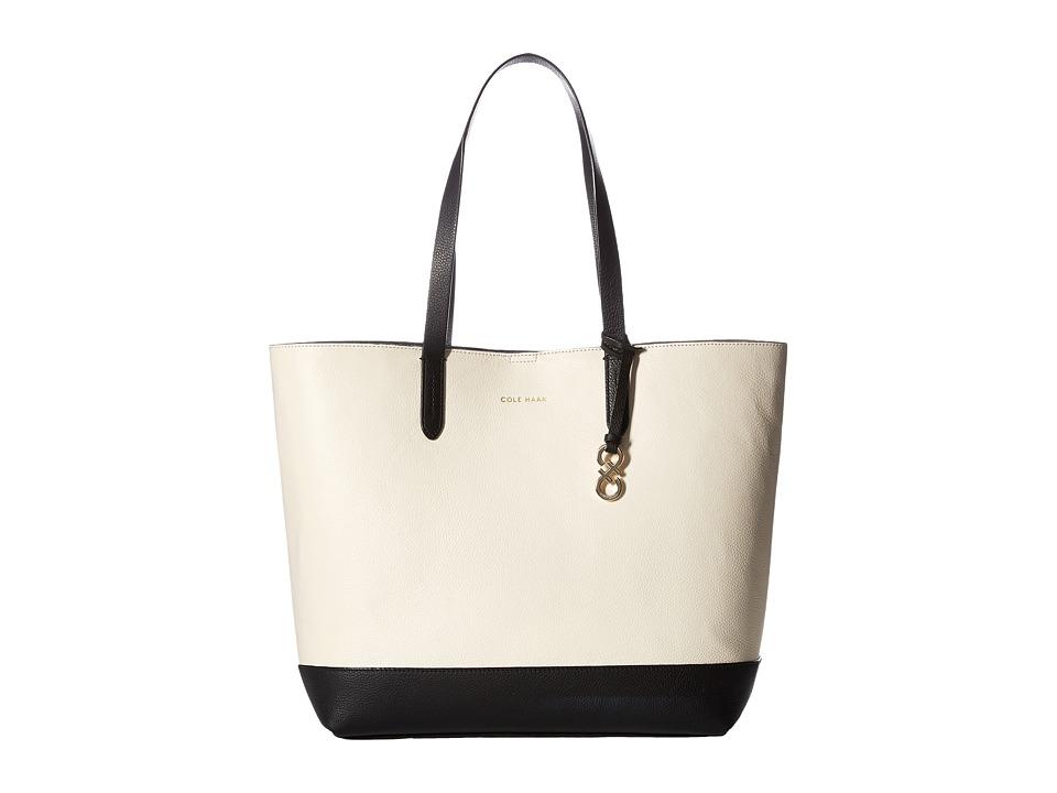 Cole Haan - Palermo Color Block Tote (Black/Ivory) Tote Handbags