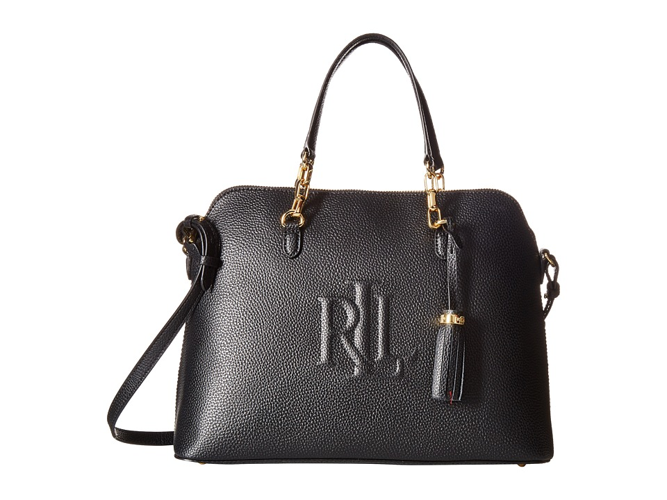 LAUREN Ralph Lauren - Anstey Dome Medium Satchel (Black) Satchel Handbags