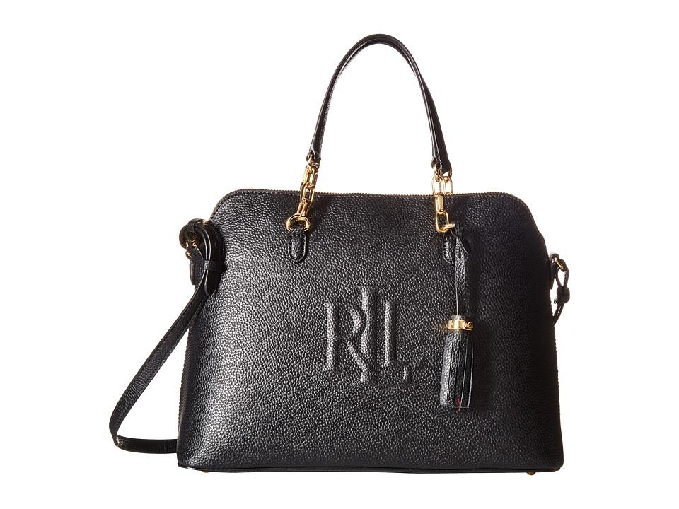 LAUREN Ralph Lauren - Anstey Dome Medium Satchel (Black) Satchel Handbags