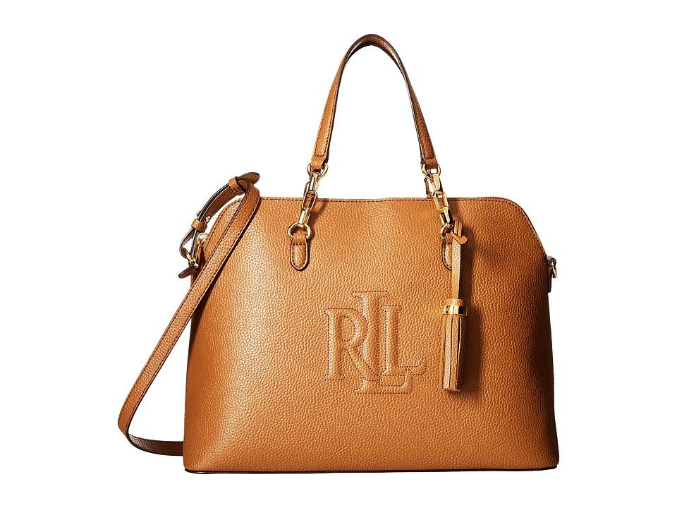 LAUREN Ralph Lauren - Anstey Dome Medium Satchel (Caramel) Satchel Handbags