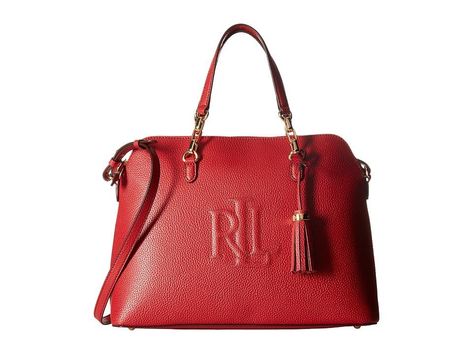 LAUREN Ralph Lauren - Anstey Dome Medium Satchel (Red) Satchel Handbags