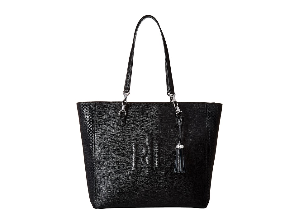 LAUREN Ralph Lauren - Anstey Halee Medium Tote (Black) Tote Handbags