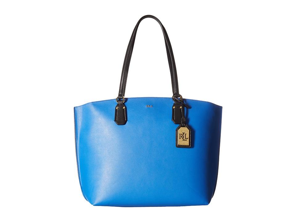 LAUREN Ralph Lauren - Lauderdale Tanner Tote Medium (Snorkel Blue) Tote Handbags