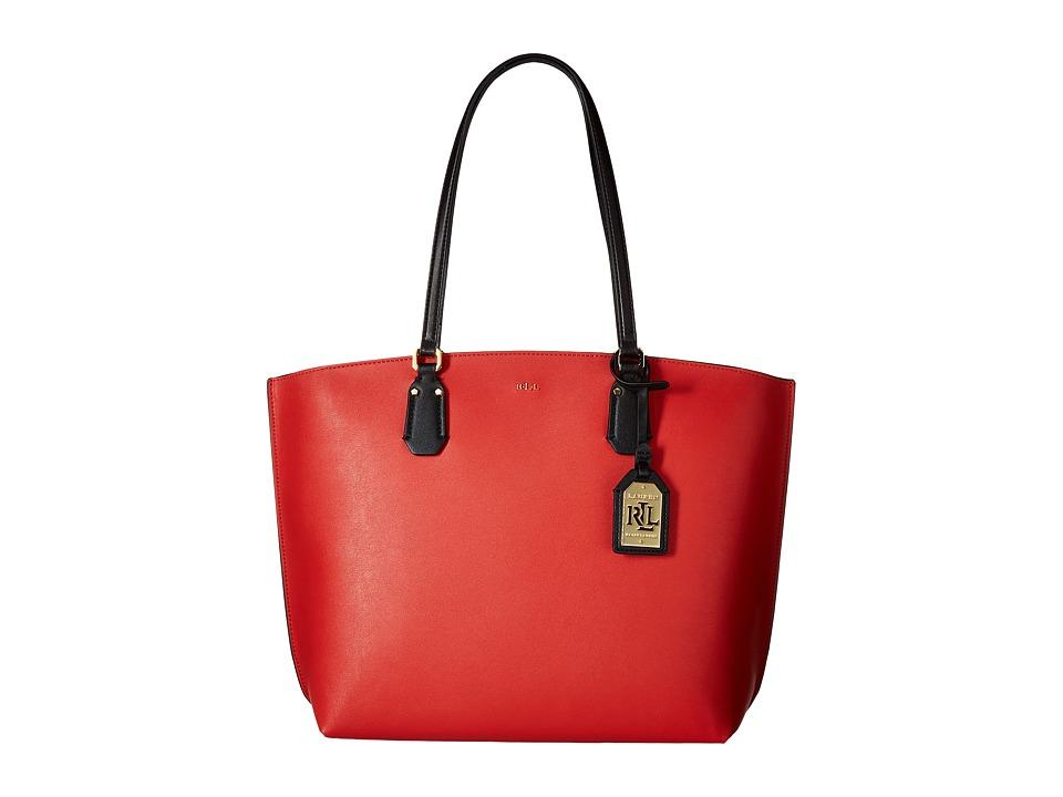 LAUREN Ralph Lauren - Lauderdale Tanner Tote Medium (Cayenne) Tote Handbags