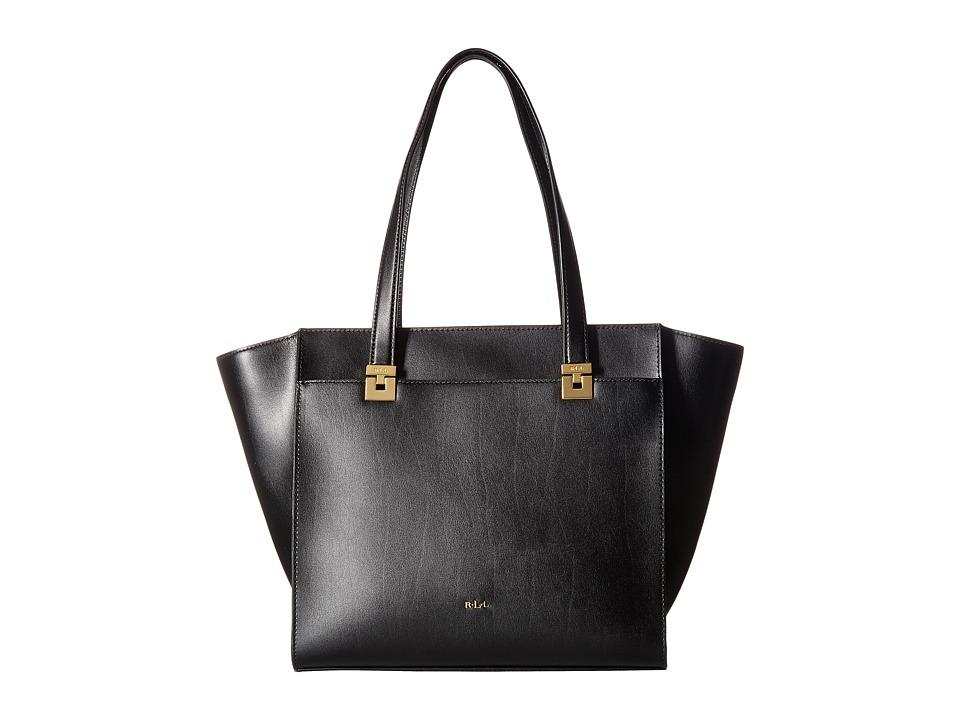 LAUREN Ralph Lauren - Penley Vanessa Medium Tote (Black) Handbags