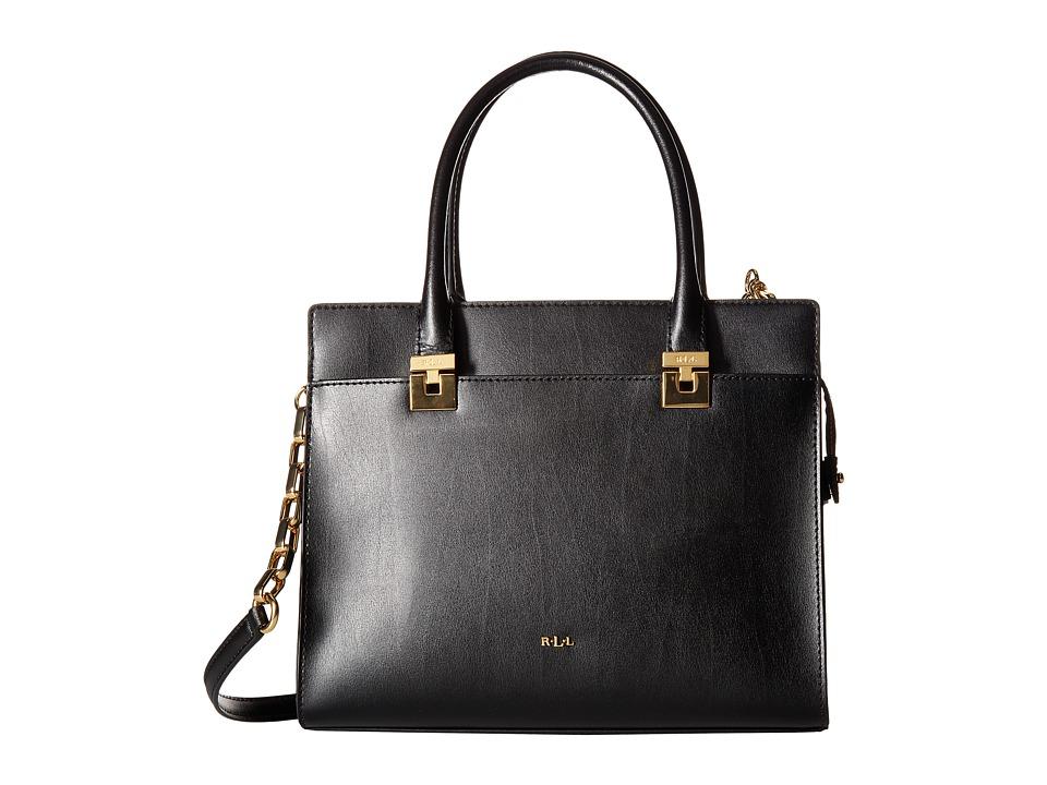 LAUREN Ralph Lauren - Penley Whitney Medium Satchel (Black) Handbags