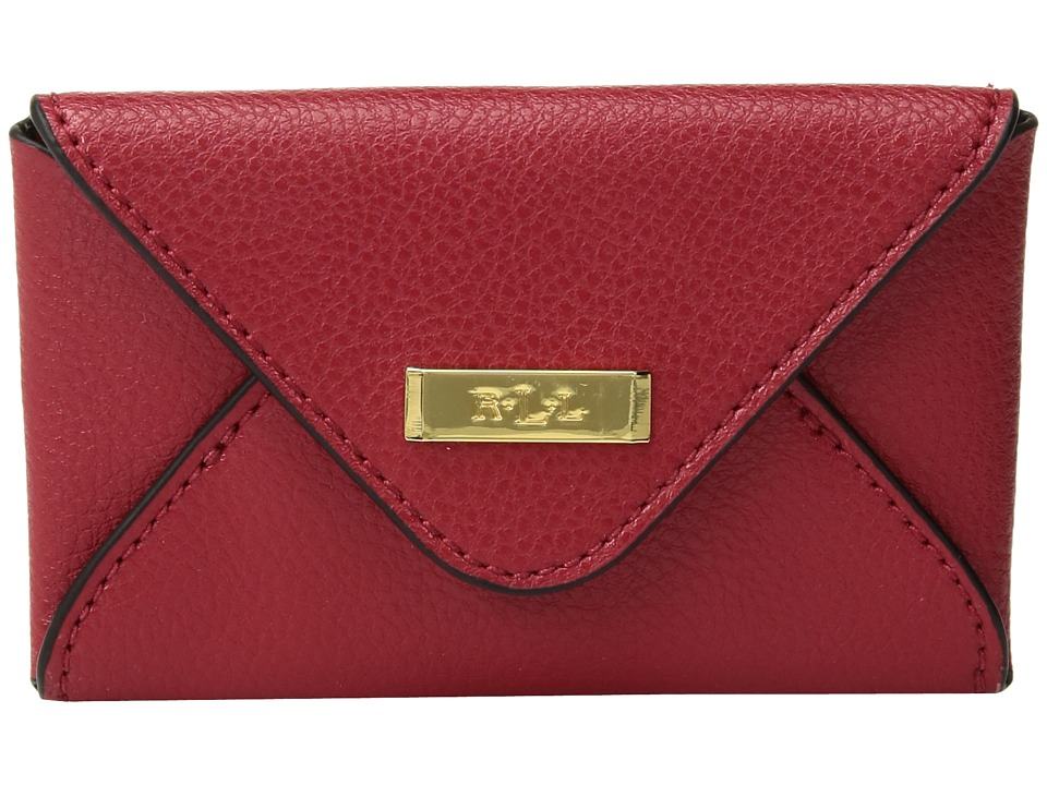 LAUREN Ralph Lauren - Carlisle Envelope Card Case (Red) Wallet
