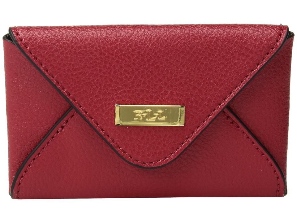 LAUREN Ralph Lauren - Carlisle Envelope Card Case (Red) Wallet