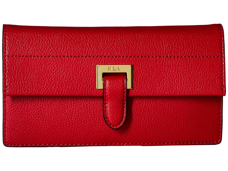 LAUREN Ralph Lauren - Carlisle Slim Wallet (Red) Wallet Handbags