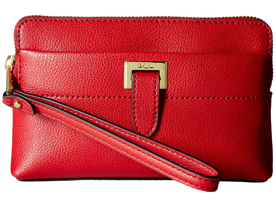 LAUREN Ralph Lauren - Carlisle Wristlet Pouch (Red) Wristlet Handbags