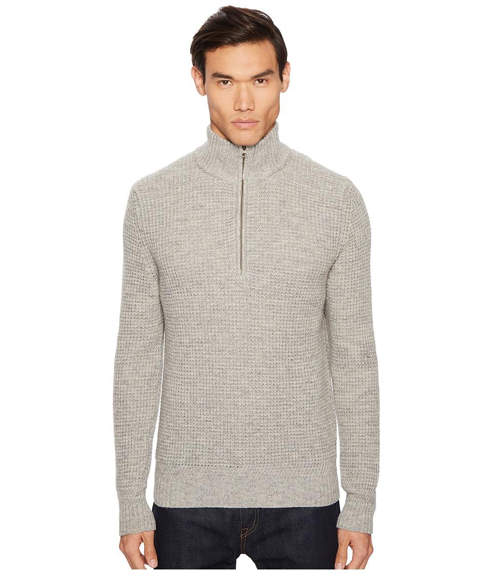 Billy Reid Cashmere 1/2 Zip Sweater (Charcoal) Men