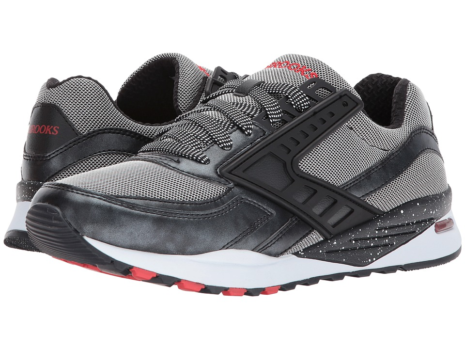Brooks Heritage - Regent (Moonless Night/Black Metallic/Silver/Fiery Red) Men's Shoes