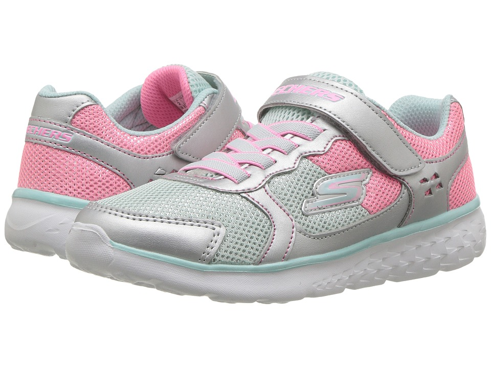 SKECHERS KIDS Go Run 400 (Little Kid/Big Kid) (Silver/Multi) Girl