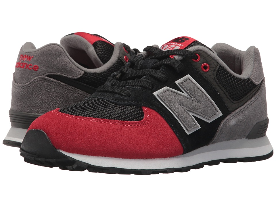 New Balance Kids GC574v1 (Big Kid) (Black/Team Red 1) Boys Shoes