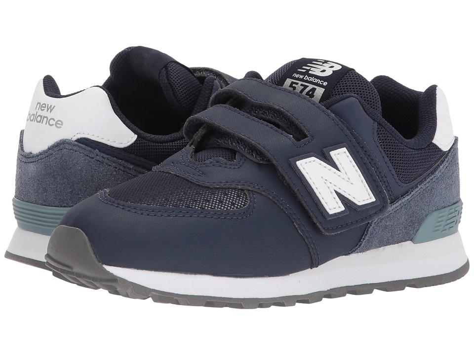New Balance Kids YV574v1 (Little Kid/Big Kid) (Blue/Grey 1) Boys Shoes