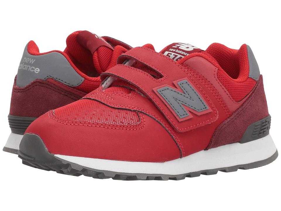 New Balance Kids YV574v1 (Little Kid/Big Kid) (Red/Black 1) Boys Shoes