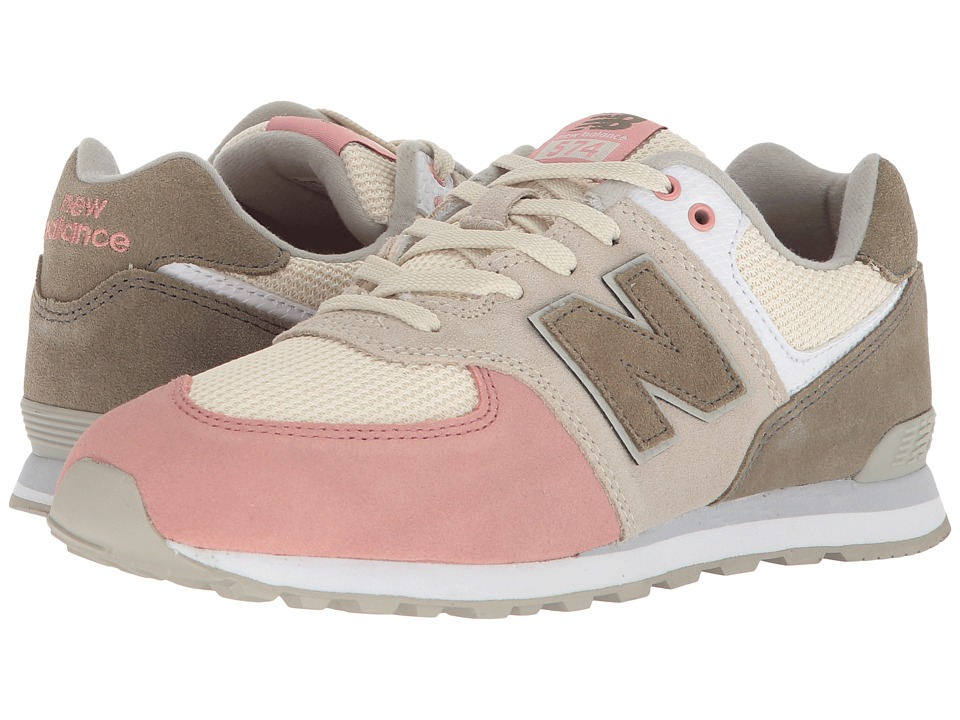 New Balance Kids GC574v1 (Big Kid) (Bone/Dusted Peach 1) Girls Shoes