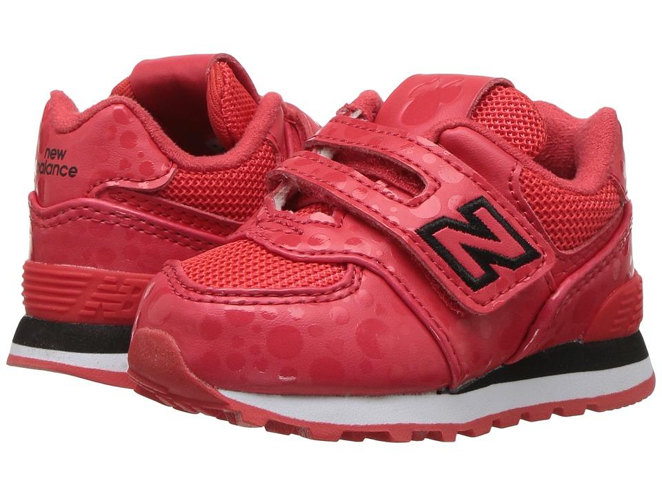New Balance Kids IV574v1 Minnie Rocks the Dots (Infant/Toddler) (Red/White) Kids Shoes