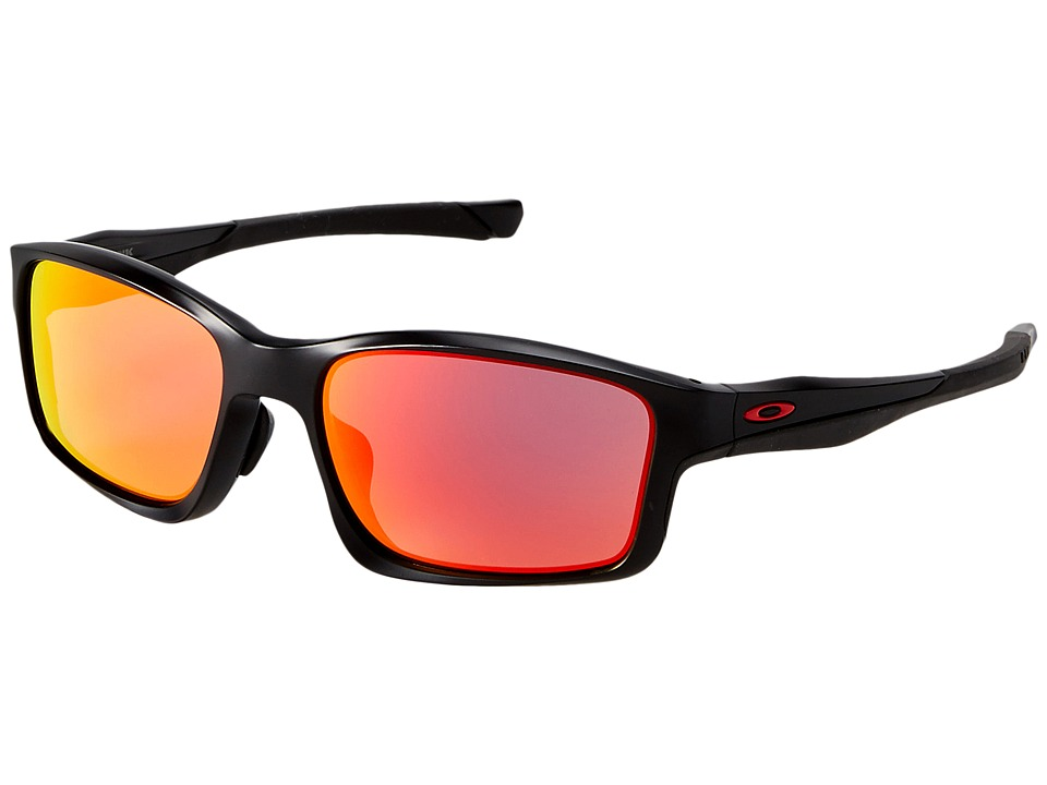 Oakley - (A) Chainlink (Matte Black/Ruby Iridium) Sport Sunglasses