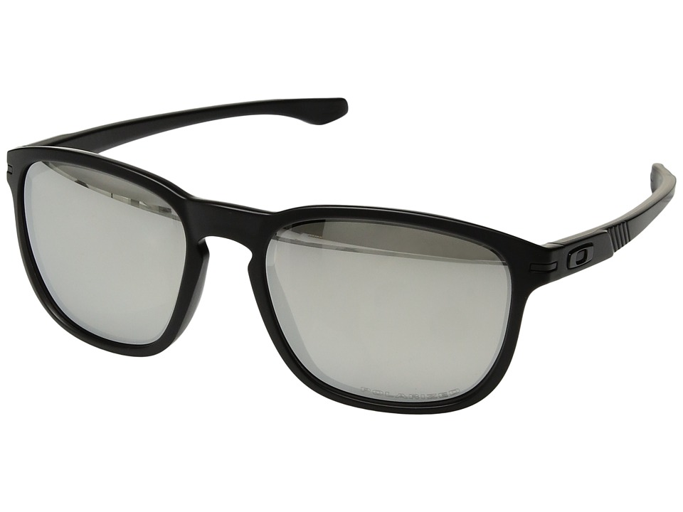 Oakley - Enduro (Matte Black Ink/Chrome Iridium Polarized) Fashion Sunglasses