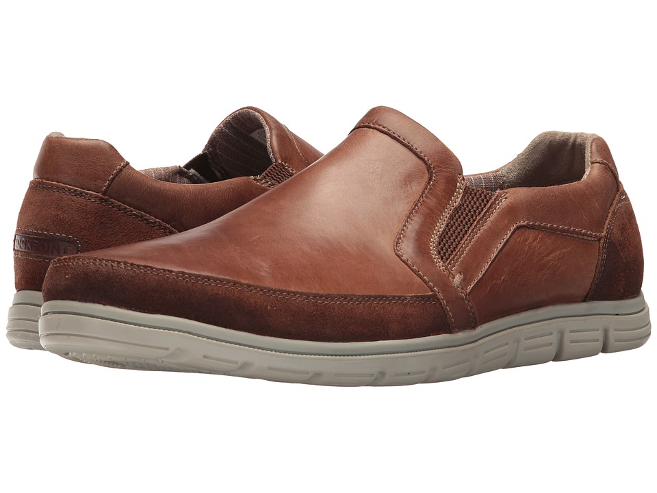 Rockport Bowman Double Gore Slip-On (Boston Tan Leather) Men