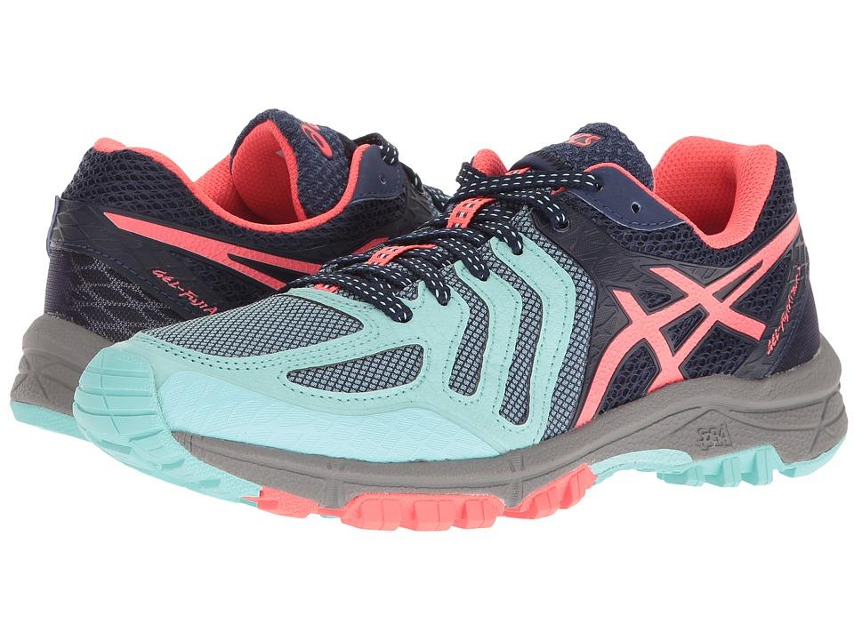 ASICS - GEL-FujiAttacktm 5 (Aqua Splash/Yellow/Aquamarine) Women's Running Shoes