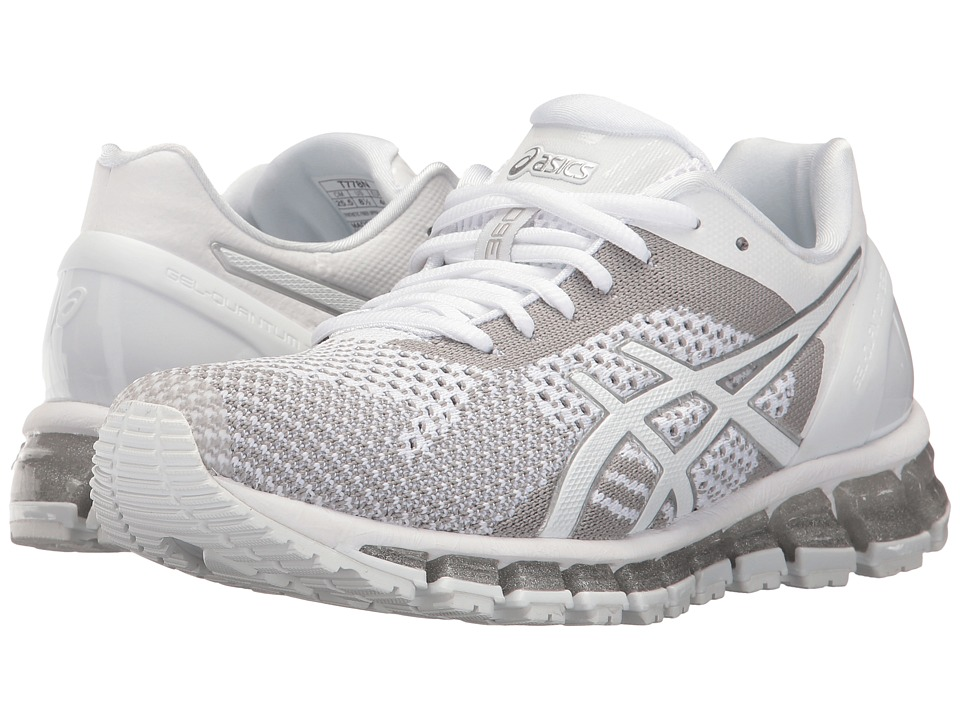 ASICS - Gel-Quantum 360 Knit (White/Snow/Silver) Women's Running Shoes