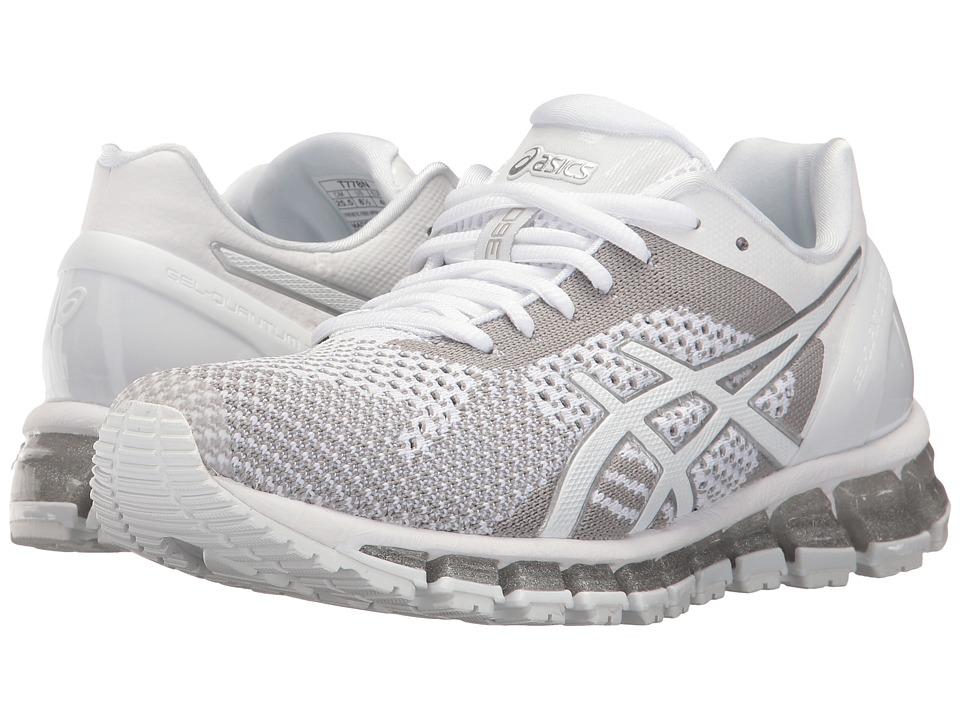 ASICS - Gel-Quantum 360 Knit (White/Snow/Silver) Women's Running Shoes