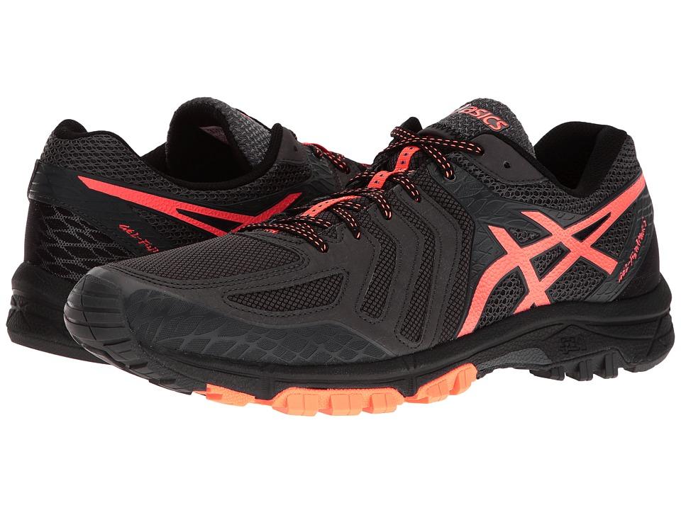 ASICS - GEL-FujiAttacktm 5 (Dark Grey/Orange/Black) Men's Running Shoes