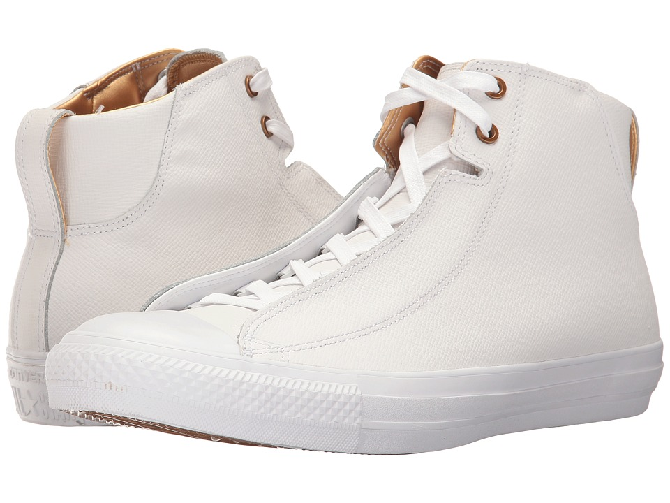 Converse - Chuck Taylor All Star Alpha Mid (White/White/Gold) Men's Lace up casual Shoes