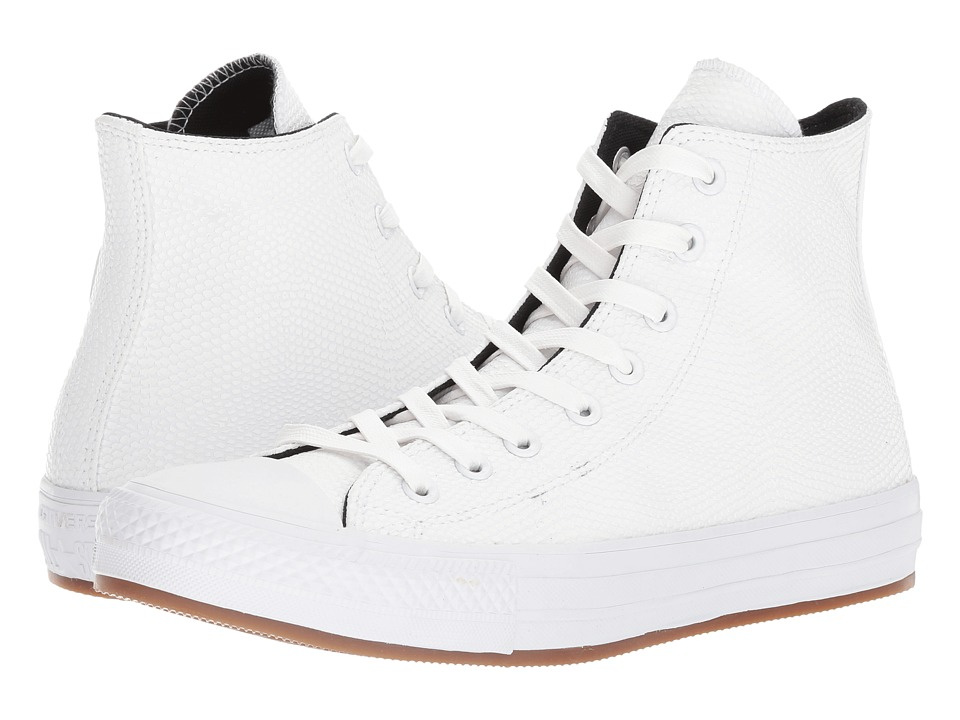 Converse - CTAS Hi (White/Black/Gum) Men's Lace up casual Shoes