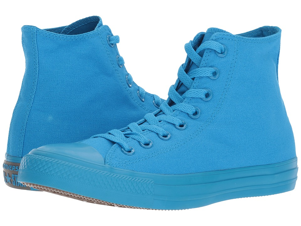 Converse - Chuck Taylor All Star Hi (Spray Paint Blue/Dolphin/Blue) Women's Lace up casual Shoes