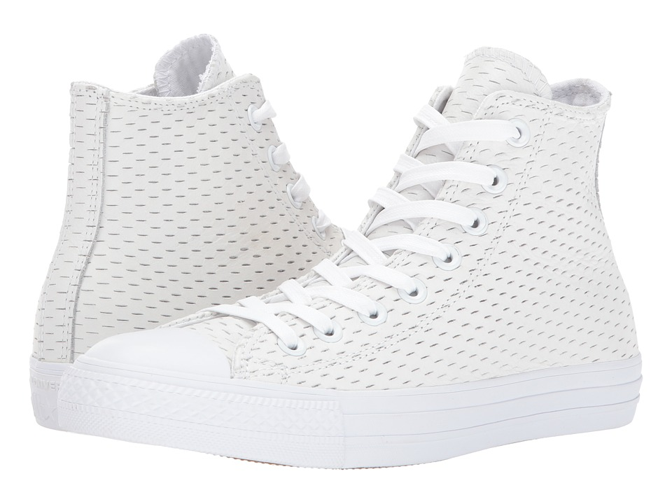 Converse - Chuck Taylor All Star Hi (White/White/Gold) Women's Lace up casual Shoes
