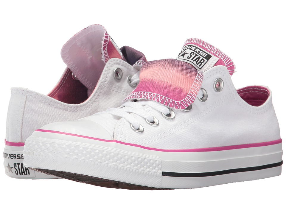Converse - CTAS Double Tongue Ox (White/Pink/Pink) Women's Lace up casual Shoes
