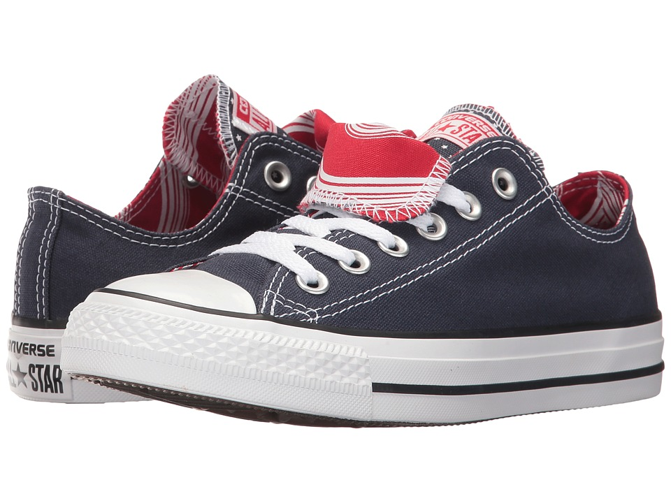 Converse - CTAS Double Tongue Ox (Navy/White/Casino) Women's Lace up casual Shoes