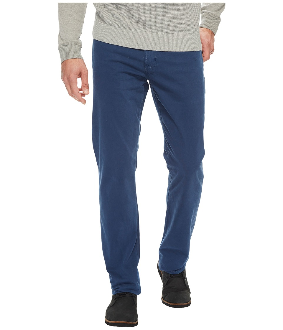 AG Adriano Goldschmied Graduate Tailored Straight Sueded Stretch Sateen (Dusty Cobalt) Men's Casual Pants