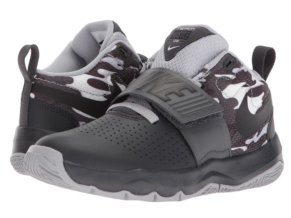 Nike Kids Hustle D 8 Camo (Little Kid) (Anthracite/Black/White/Wolf Grey) Boys Shoes