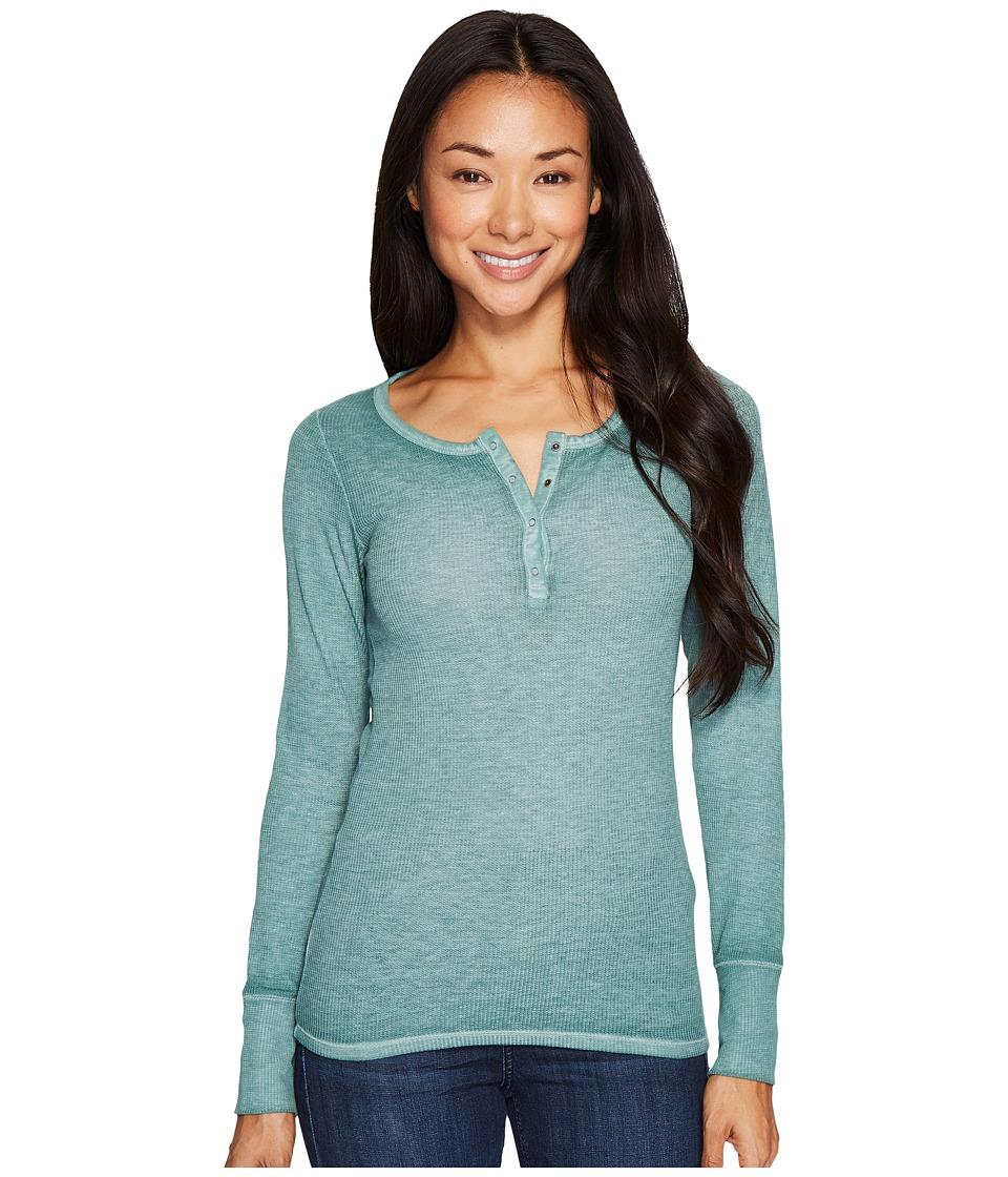 Mavi Jeans Henley Top (Light Green) Women
