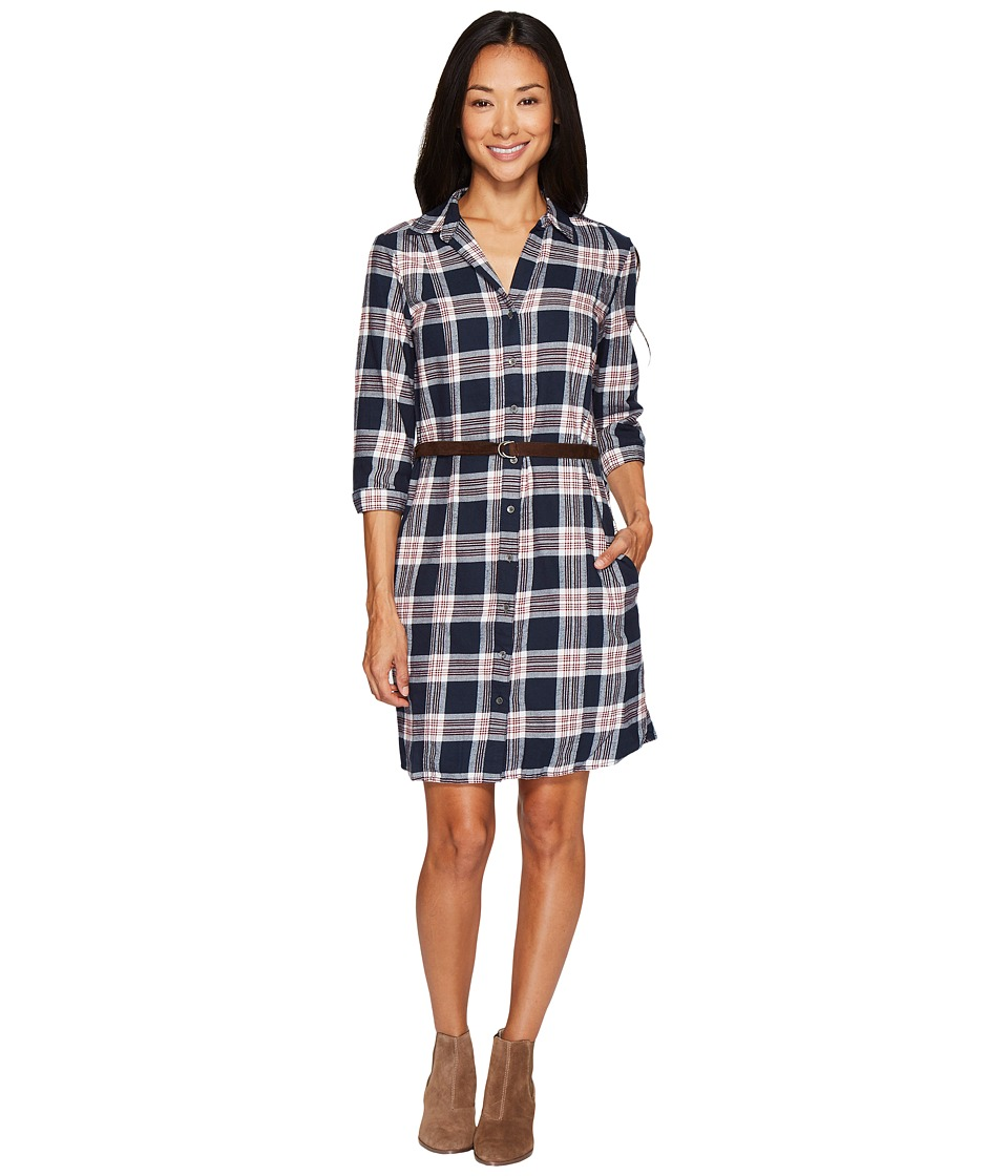 Mavi Jeans Plaid Dress (Midnight Blue) Women
