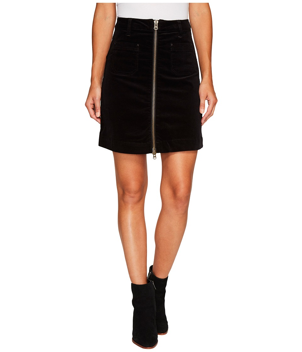 Jag Jeans McCamey Zip Front Skirt in Refined Corduroy (Black) Women