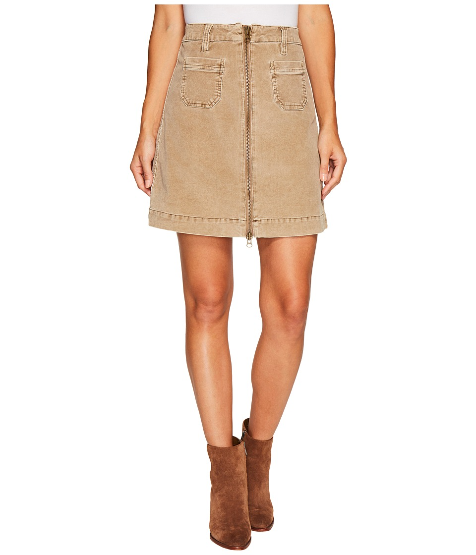 Jag Jeans McCamey Zip Front Skirt in Refined Corduroy (Toffee) Women