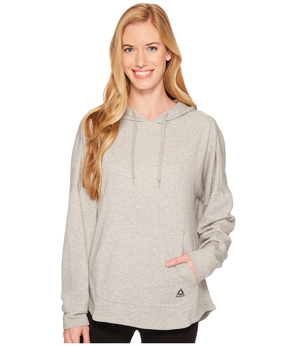 Reebok French Terry Long Sleeve Cover-Up (Medium Grey Heather) Women